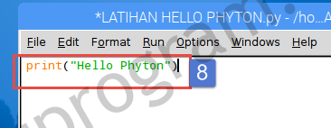 MEMBUAT HELLO PHYTON DI RASPBERRY PI 3 MODEL B