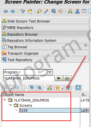 Hasil Create Screen - Dialog Programming