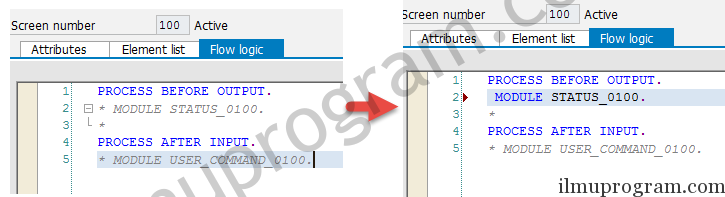 PROCESS BEFORE OUTPUT - SCREEN EVENTS